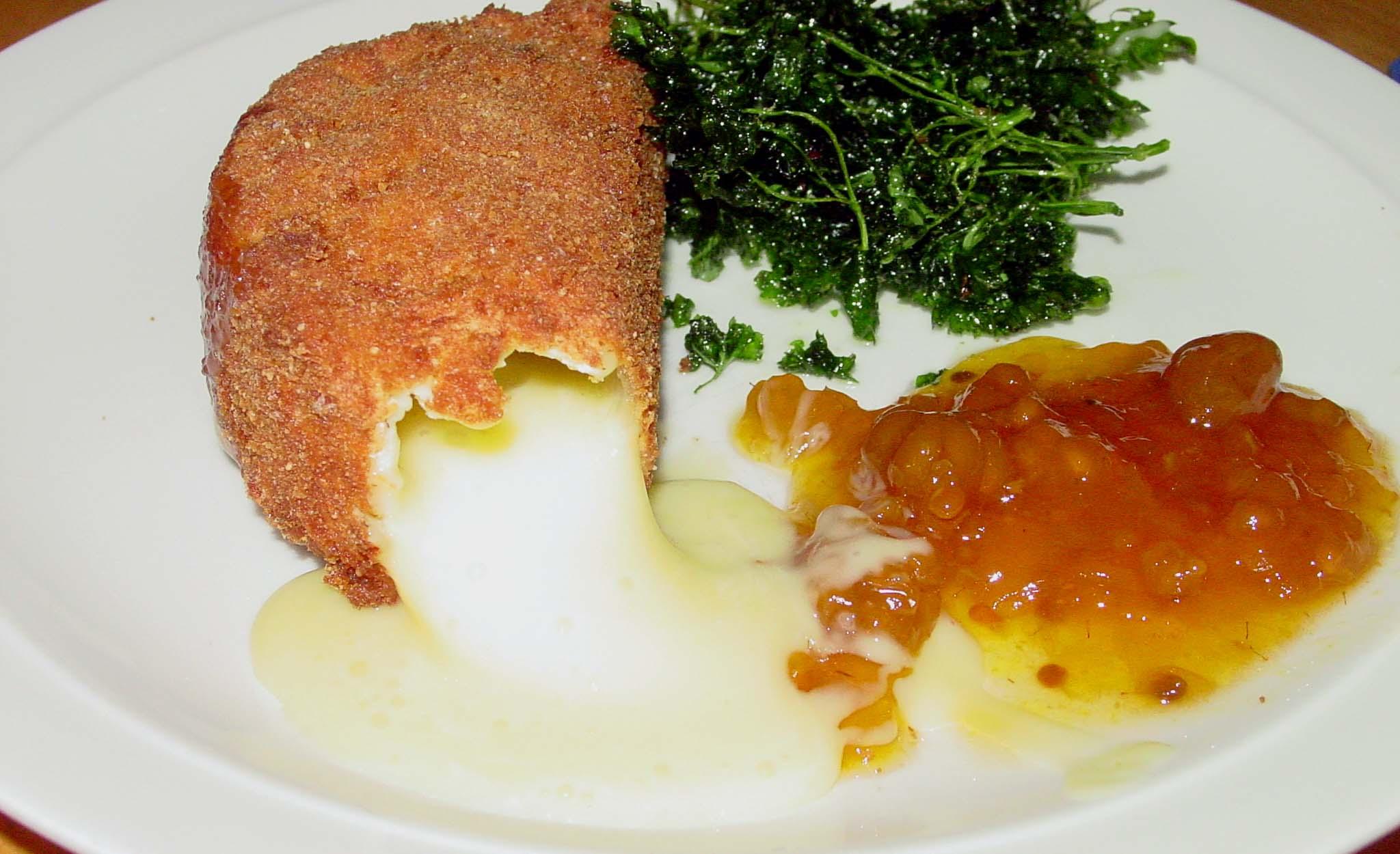 friterad camembert efterrätt
